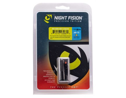 Night Fision Perfect Dot Post Adjustable Front Night Sight for AR-15 and AR-10 Style Rifles, Green with Orange Outline - AR-000-001-OGXX