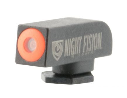 Night Fision Perfect Dot Front Night Sight for Glock 17 and 41 Pistols, Green with Orange Outline - GLK-000-001-OGXX