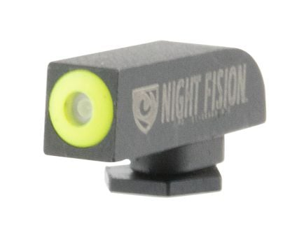 Night Fision Perfect Dot Front Night Sight for Glock 17 and 41 Pistols, Green with Yellow Outline - GLK-000-001-YGXX