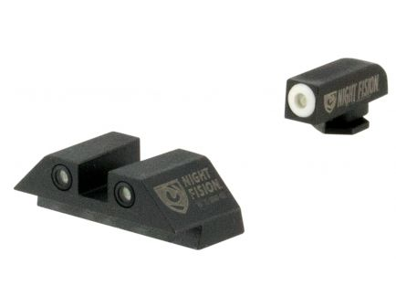 Night Fision Night Sight Set for Glock 17/17L/19/22-28/31-35/37-39 Pistols, Green with White Square Front/Rear - GLK-001-003-WGWG