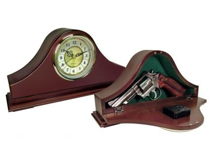 PS Products Peace Keeper Mantle Gun Concealment Clock Personal Vault, Mahogany - MGC