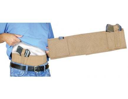 PS Products Large Handgun Concealed Carry Belly Band, Tan - BELLYBANDNL