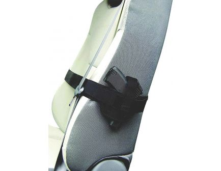 PS Products Right Hand Small/Medium Frame Auto Car Seat Holster, Plain Black - 036SH