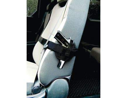 PS Products Right Hand Medium/Large Frame Auto Car Seat Holster, Plain Black - 035SH