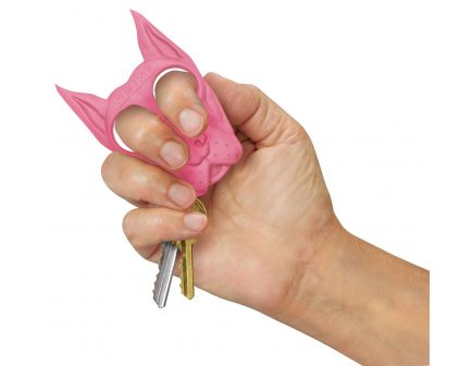 PS Products Spike Self Defense Keychain, Pink - SPIKEPK