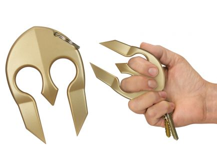 PS Products Spartan Close Contact Portable Protection Keychain, Gold - SPARTANGL