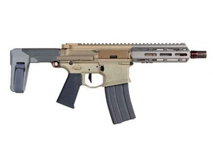 Q LLC Honey Badger .300 Blackout Semi-Automatic AR Pistol, FDE - HB-300BLK-7-PISTOL