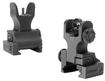 Samson Manufacturing HK Front/A2 Rear Folding Sight Set for AR-15 Style Rifle - QF-FFS-FRS