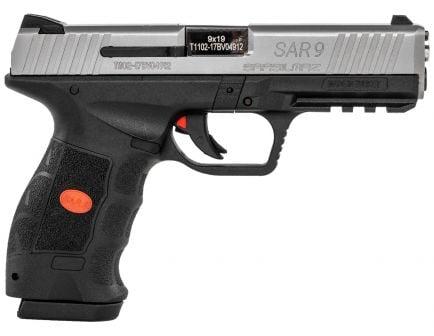 SAR USA SAR9 9mm Pistol, Blk - SAR9ST