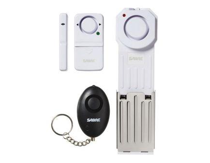 Sabre AKA Security Equipment Corp 3-Piece Dorm/Apartment Alarm Kit, Premium White/Black - HSDAK