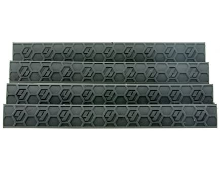 Hexmag Low-Profile KeyMod Polymer Rail Cover, Black - HX-KMC-4PK-BLK