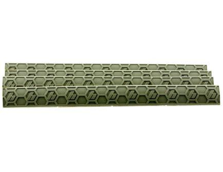 Hexmag Low-Profile M-LOK Polymer Rail Cover, Flat Dark Earth - HX-MLC-4PK-FDE