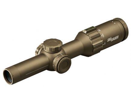Sig Sauer Electro-Optics TANGO6T 1-6x24mm Illuminated 762 Extended Range Rifle Scope, Flat Dark Earth - SOT61234