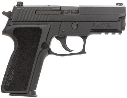 Sig Sauer P229 Nitron Compact 9mm Semi-Automatic Pistol, Hardcoat Anodized Black - 229RM-9-BSS