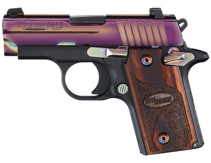Sig Sauer P238 Rainbow Micro-Compact .380 ACP Semi-Automatic Pistol, Hardcoat Anodized Black - 238M-380-RBT