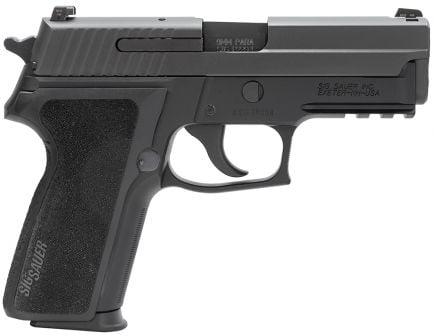 Sig Sauer P229 Nitron Compact 9mm Semi-Automatic Pistol, Hardcoat Anodized Black - 229R-9-BSS-CA