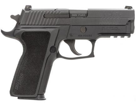 Sig Sauer P229 Enhanced Elite California Compliant 9mm Semi-Automatic Pistol, Hardcoat Anodized Black - 229R-9-ESE-CA