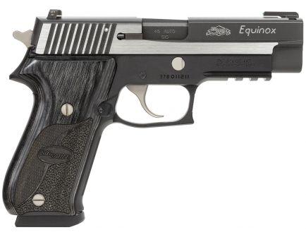 Sig Sauer P220 Equinox .45 ACP Pistol, Hardcoat Anodized Black - 220R-45-EQ-CA