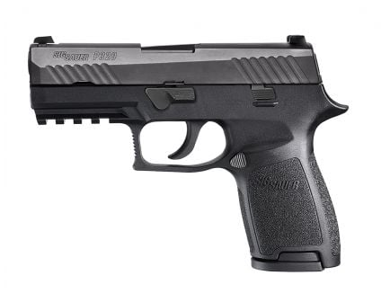 Sig Sauer P320 Nitron Carry .357 Sig Semi-Automatic Pistol, Stainless - 320CA-357-BSS-10
