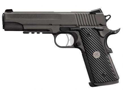 Sig Sauer 1911 Tacops Full-Size 10mm Semi-Automatic Pistol, Black Nitron - 1911R-10-TACOPS