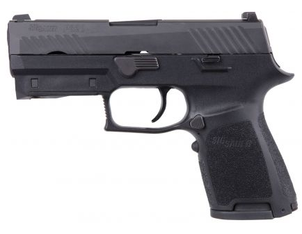 Sig Sauer P320 Lima Compact 9mm Semi-Automatic Pistol w/ LIMA320 Green Laser Grip, Stainless - 320C-9-BSS-LIMA-G