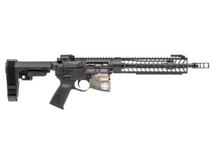 Spikes Tactical Rare Breed Crusader 5.56 Semi-Automatic AR Pistol, Hardcoat Anodized Black/Black Phosphate - STP5625-M1R
