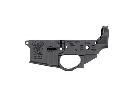 Spikes Tactical Multi-Caliber Viking Logo Stripped Lower Receiver, Hardcoat Anodized Black - STLS031