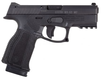 Steyr Arm M9-A2 MF 9x19mm Semi-Automatic Mechanically Locked Recoil-Operated Pistol, Blk - 78.221.2HO