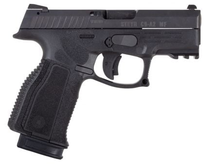 Steyr Arm C9-A2 MF 9x19mm Semi-Automatic Mechanically Locked Recoil-Operated Pistol, Blk - 78.321.2HO