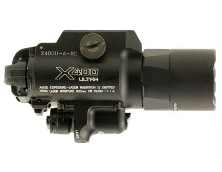 Surefire-Laser Product 1000 lm LED Weapon Light w/ Red Laser, Black - X400U-A-RD
