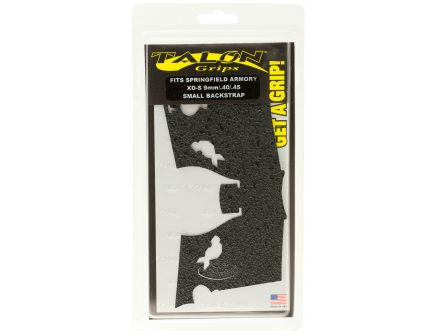 Talon Grips Rubber Small Pistol Grip for Springfield XD-S 9mm/.40/.45, Black - 207R
