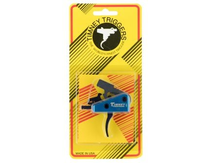 Timney Triggers Targa Standard Curved Drop-in 2-Stage Trigger for AR/M4 Style Rifle, Black/Blue - 663S