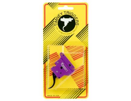Timney Triggers Curved Drop-in Single-Stage Trigger for Remington 700 Winchester Rifles, Purple/Black - 502B