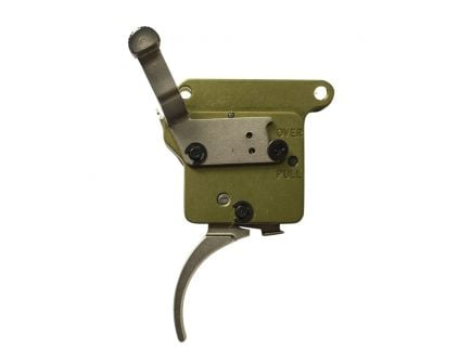 Timney Triggers Elite Hunter Straight Drop-in Right Hand Trigger for Remington 700 Rifles, Nickel Plated Green - 517-16V2