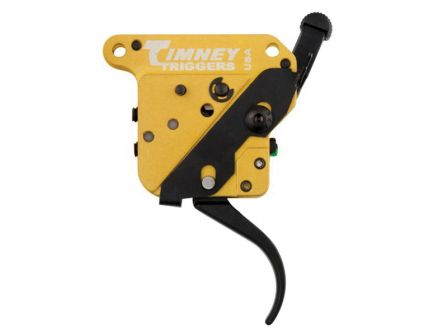 Timney Triggers Calvin Elite Curved Drop-in Trigger for Remington 700 Rifles, Black/Gold - 520CE
