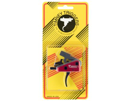 Timney Triggers Targa Standard Curved Drop-in 2-Stage Trigger for AR-15 Style Rifle, Black/Red - 662S