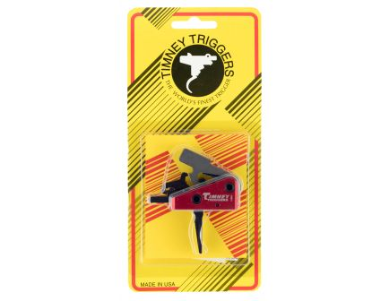 Timney Triggers Targa Straight Drop-in 2-Stage Trigger for AR-15 Style Rifle, Black/Red - 662S-ST