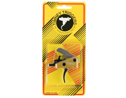 Timney Triggers Standard Curved Drop-in Single-Stage Competition Trigger for AR-15 Style Rifle, Black/Gold - 667S