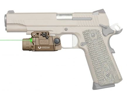 Viridian Laser Sight and Tactical Light Combo for Most Full-Sized Railed Pistols - 9300016
