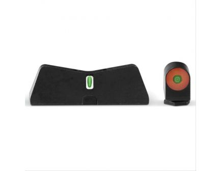 XS Sights Night Sight Set for Glock 42, 43, 43X, 48 Pistols, Green with Orange Outline Front, Green with White Outline Rear - GL-0011S-5N