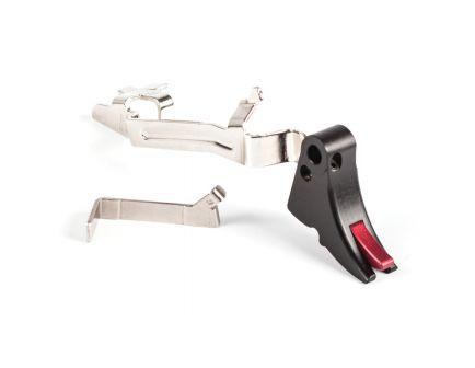 ZevTech Fulcrum Adjustable Curved Small Trigger Bar Kit for Glock 17, 17L, 19 Gen 4, 1-3 Pistols, Black/Red - FUL-ADJ-BAR-SM-B-R