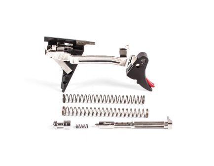 ZevTech Fulcrum Adjustable Curved Drop-in Trigger Ultimate Kit for Glock 17, 19, 26, 34 Gen 4 Pistols, Black/Red - FUL-ADJ-ULT-4G9-B-R