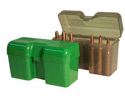 "MTM Case Gard RF-22 22 Round Flip-Top Ammo Box, 3.84"" OAL, Clear Smoke - RF22LM41"