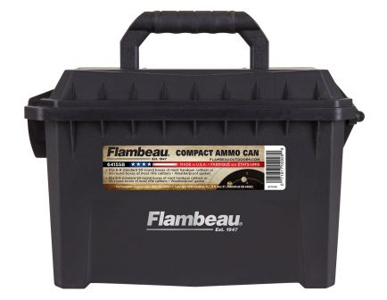 Flambeau .223 Rem/5.56/12/20 Gauge Polymer Water-Resistant Compact Ammo Can, Black - 6415SB