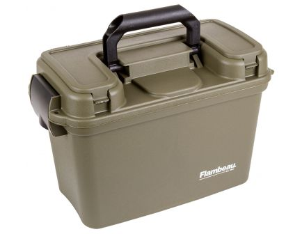 Flambeau 12/20 Gauge Polymer Water-Resistant Shotshell Ammo Can w/ Trays, Tan - 1408ST