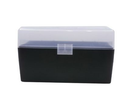 Berrys Bullets 409 50 Round Flip-Top Ammo Box, Clear/Black - 79314