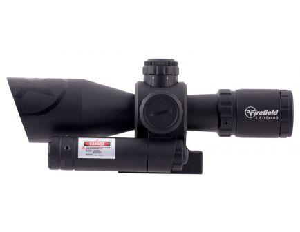 Firefield 2.5-10x40mm Illuminated Mil-Dot (SPF) Barrage Rifle Scope w/ Green Laser - FF13066