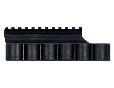 TacStar Integral Picatinny Rail Mount w/ Sidesaddle for Benelli M2 12 Gauge Shotgun, Black - 1081021