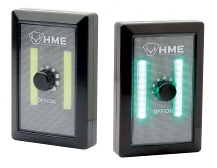 GSM Outdoors COB Green Light Wall Switch w/ Dimmer, Black - HME-COBGWS