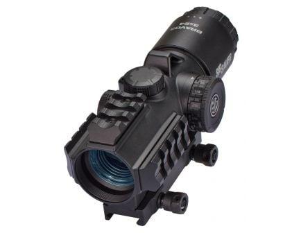 Sig Sauer Electro-Optics BRAVO3 3x24mm Battle Sight, Illuminated 5.56/7.62 Horseshoe Dot - SOB33101